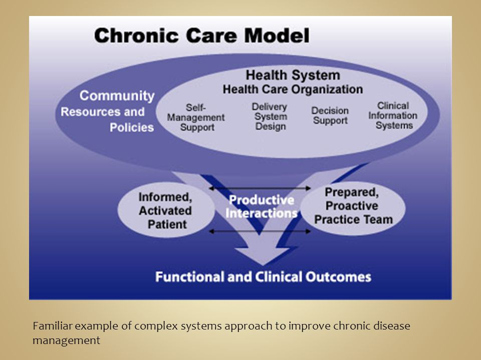 Familiar example of complex systems approach to improve chronic disease management