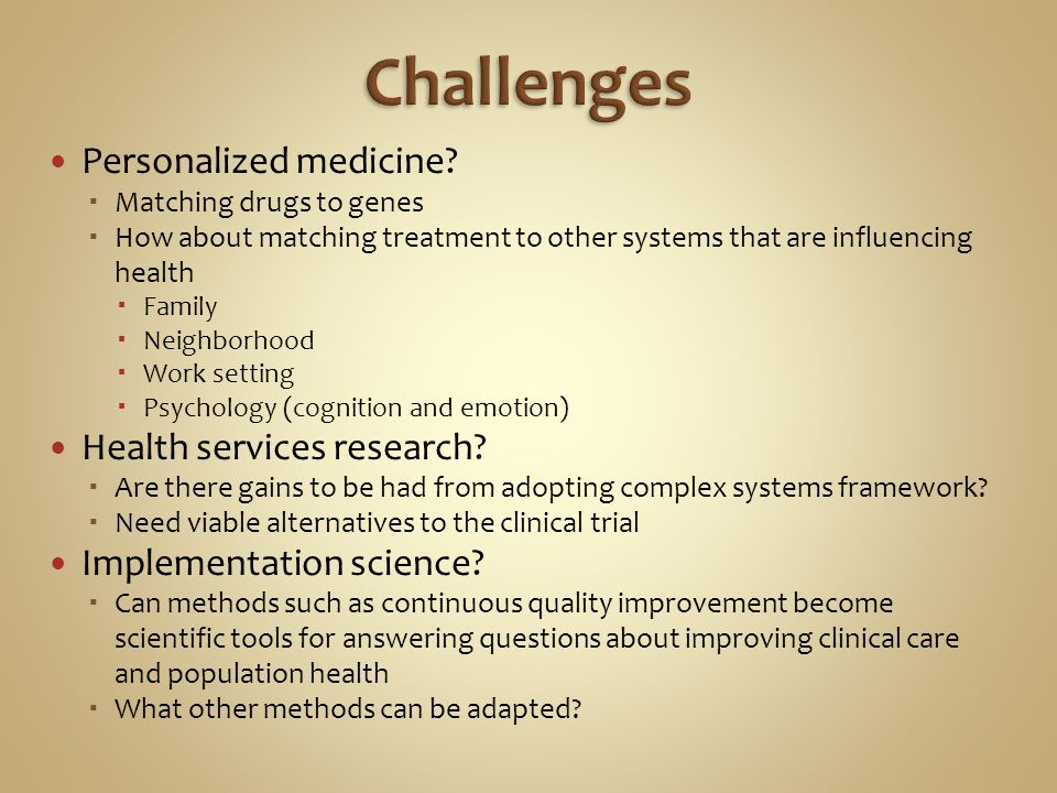 Personalized medicine.
