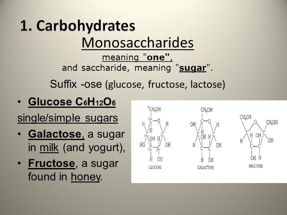 Monosaccharides meaning