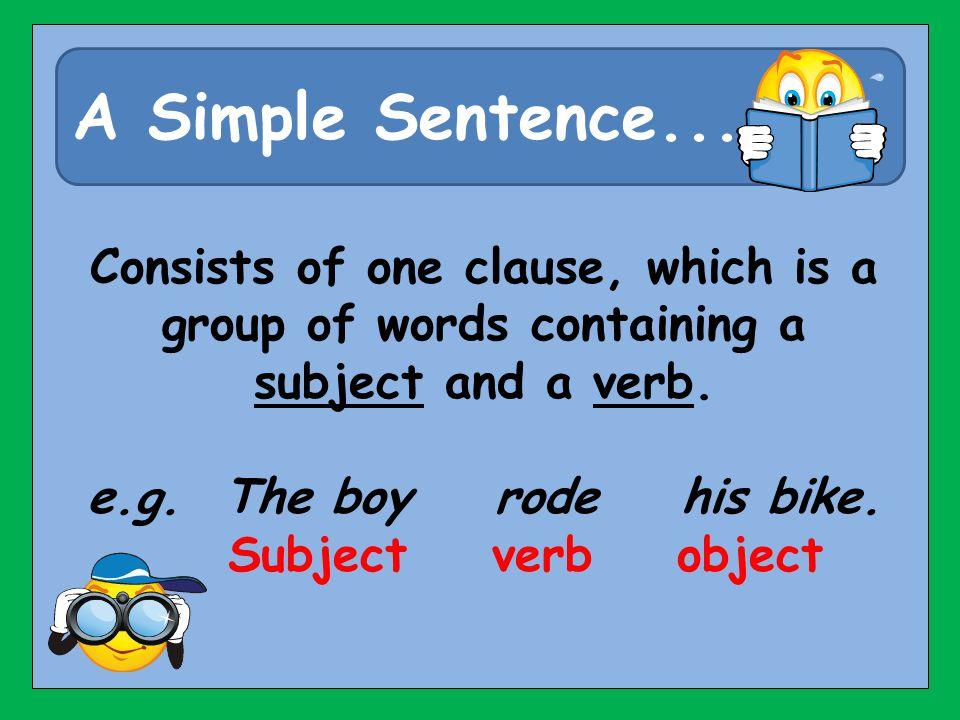 A Simple Sentence...