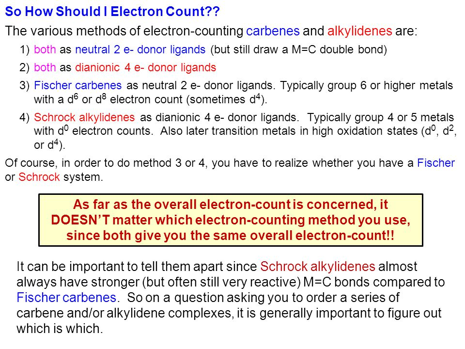 So How Should I Electron Count?.