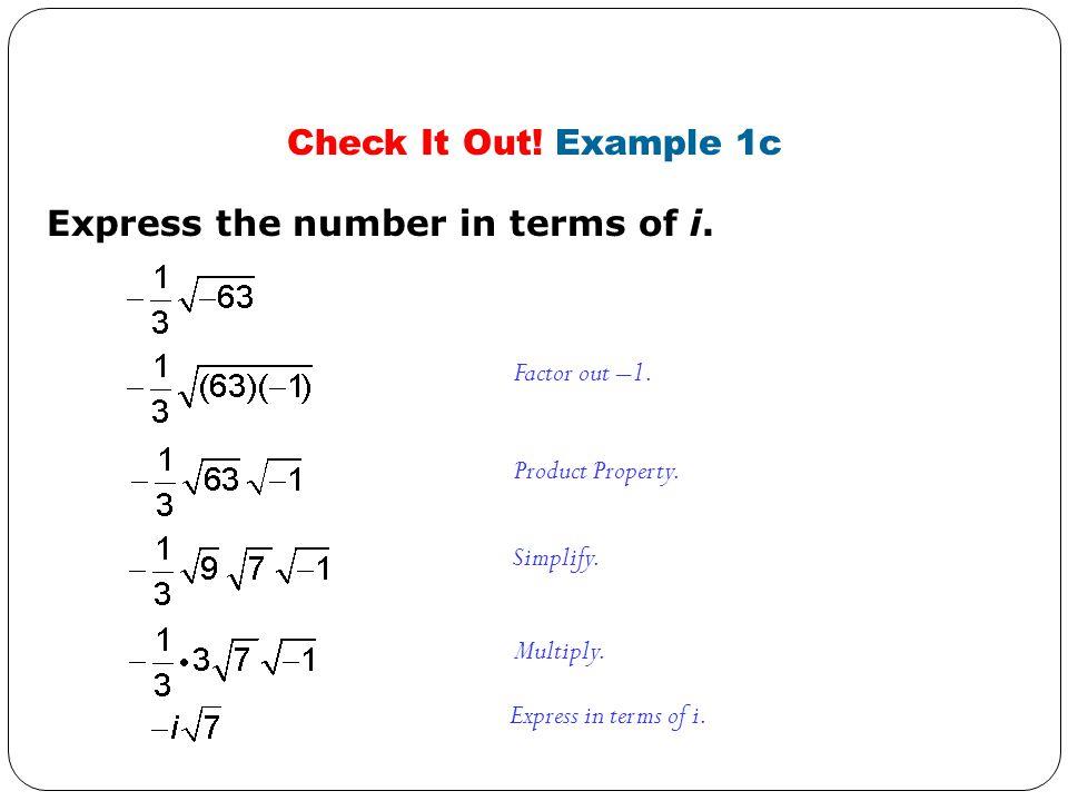 Write a quadratic containing the given zero. A. 9 - i B.