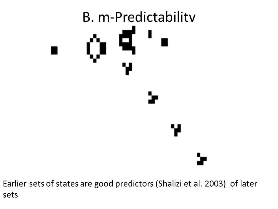 B. m-Predictability Earlier sets of states are good predictors (Shalizi et al. 2003) of later sets