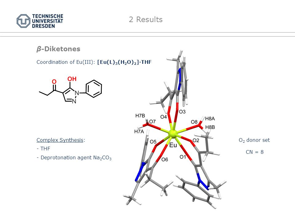 Hydazones 2 Results Coordination of UO 2 2+ : (Et 3 NH) 2 [(UO 2 ) 2 (μ-O 2 )(L) 2 ] MeOH Complex Synthesis: - MeOH - Deprotonation agent Et 3 N N 2 O 2 donor set CN = 8