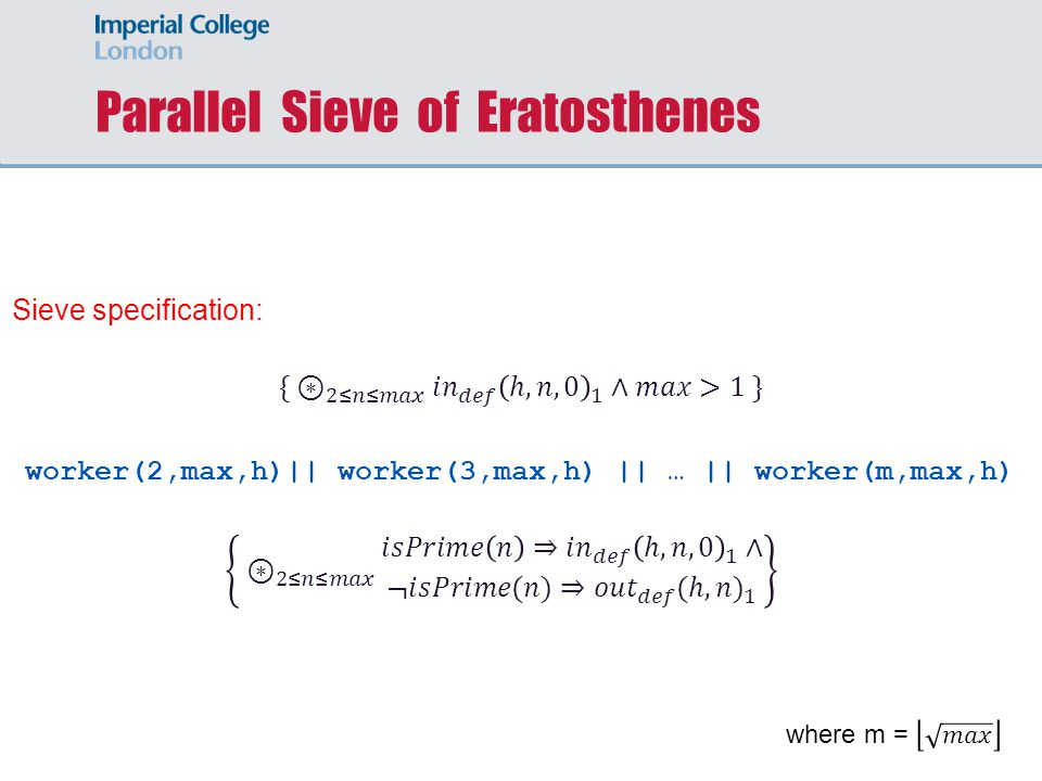 Parallel Sieve of Eratosthenes