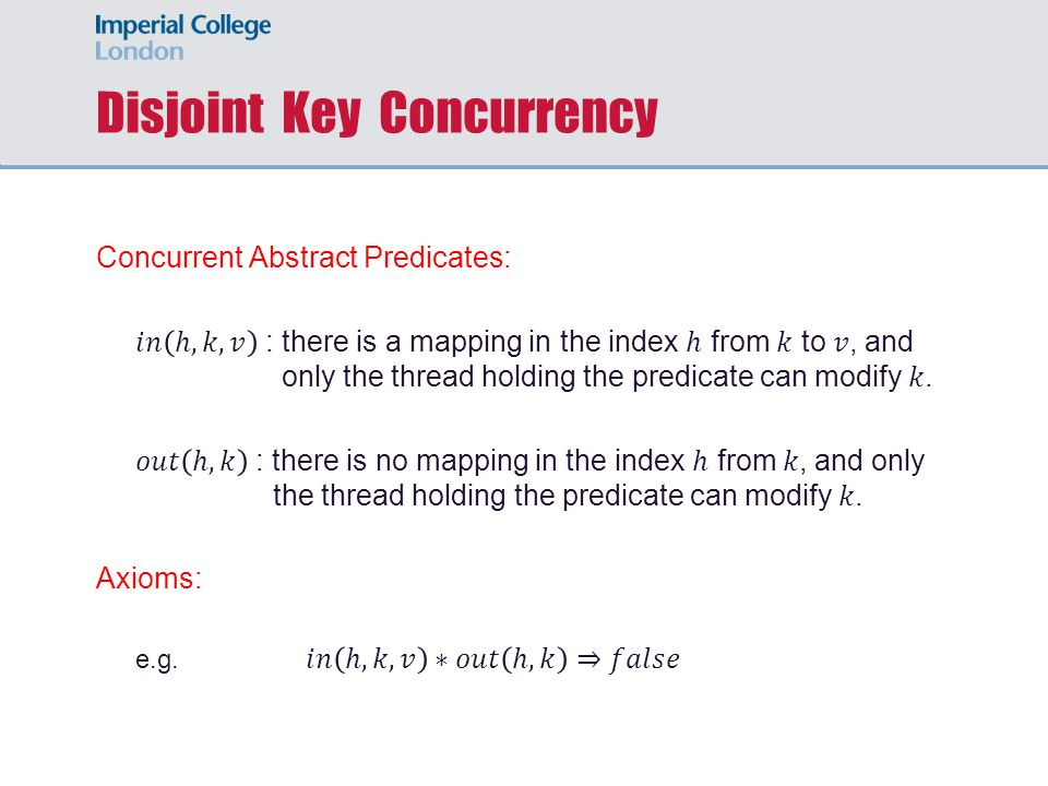 Disjoint Key Concurrency
