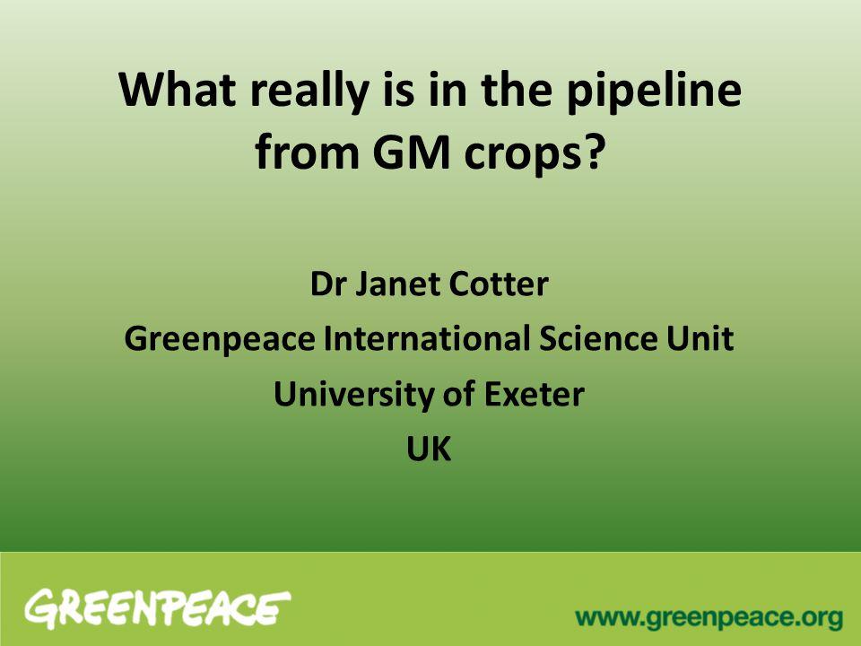 Example of complex genetic engineering Genetic insert for Golden rice