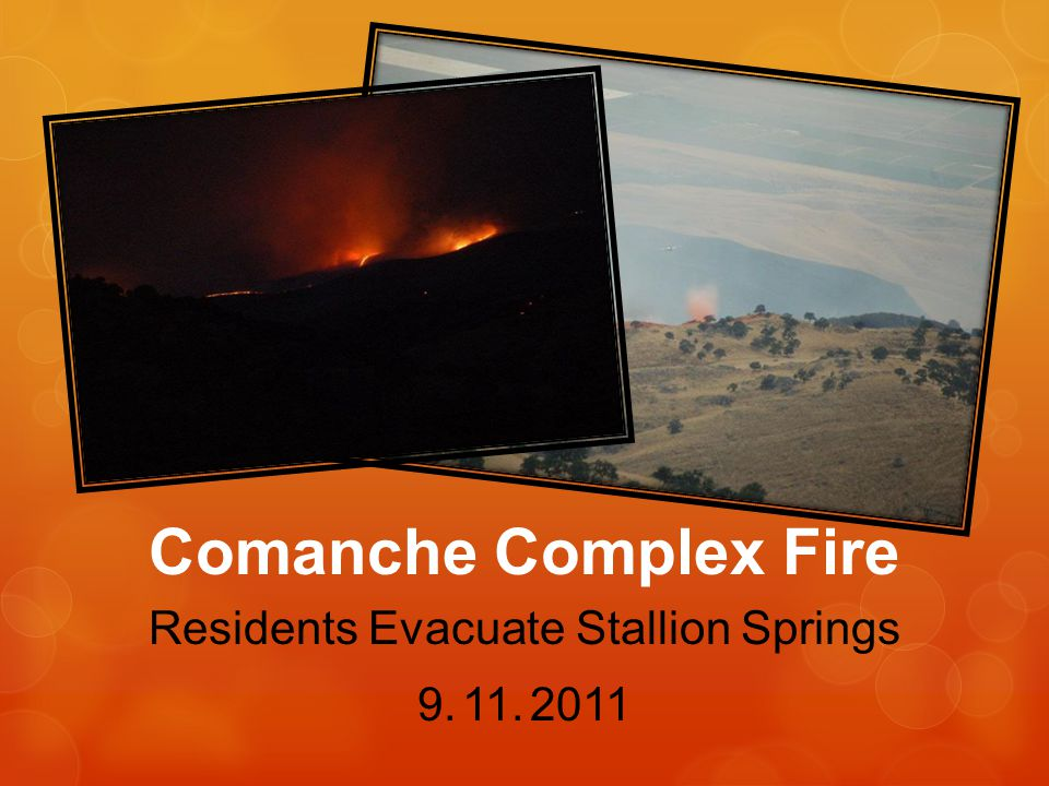 Residents Evacuate Stallion Springs 9. 11. 2011 Comanche Complex Fire