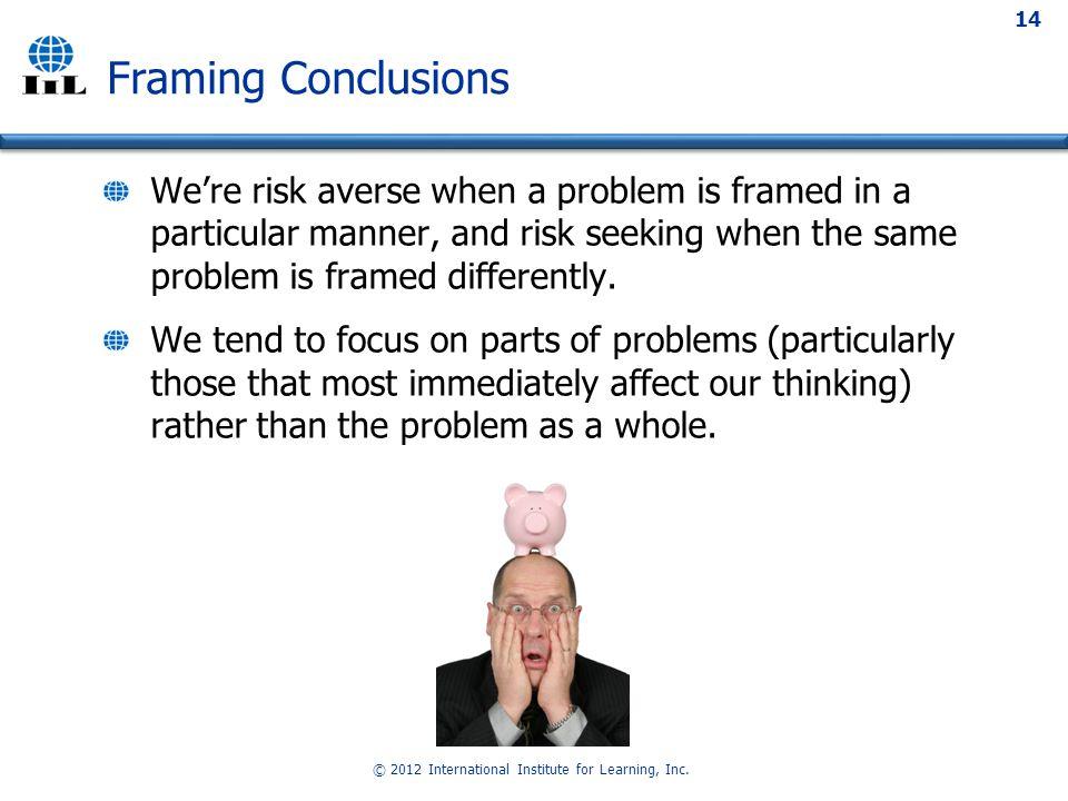 © 2012 International Institute for Learning, Inc.
