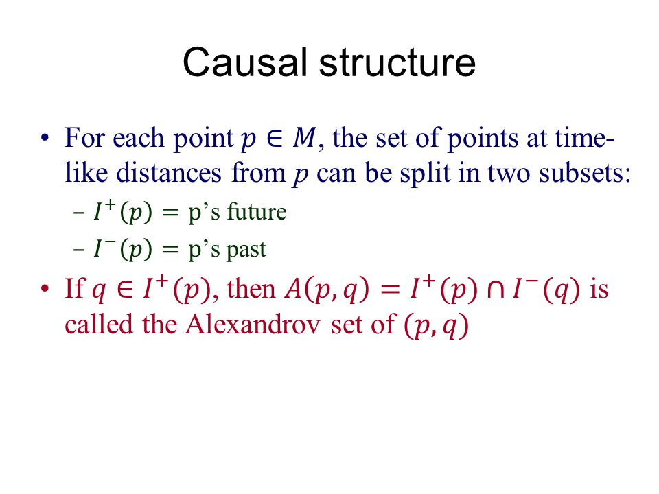 Causal structure