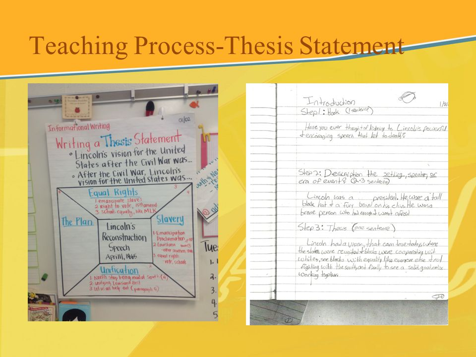 Teaching Process-Thesis Statement