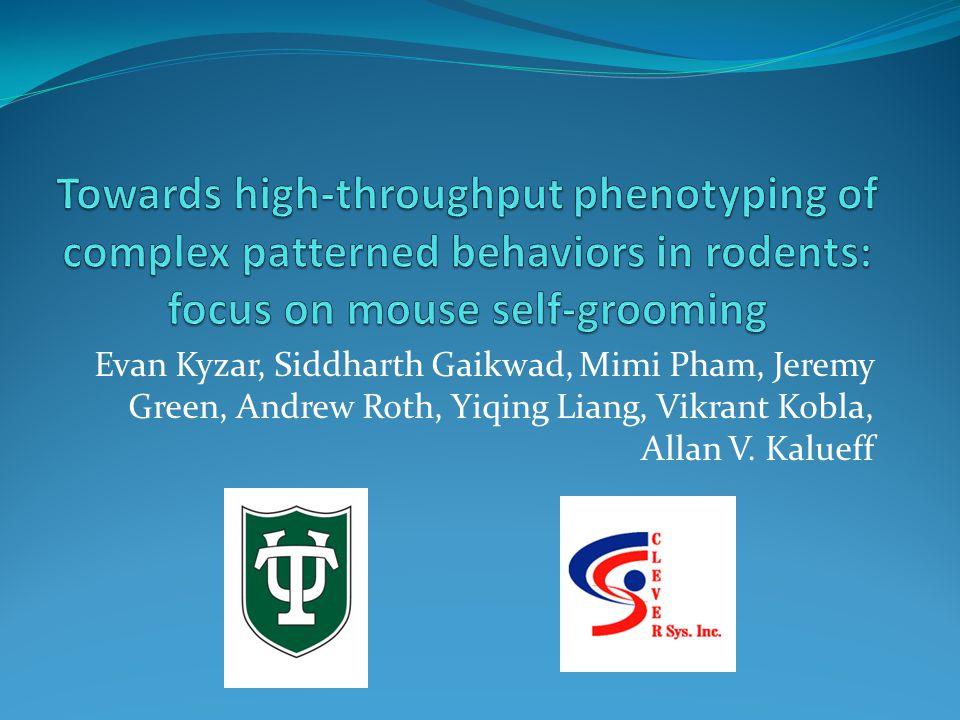 Evan Kyzar, Siddharth Gaikwad, Mimi Pham, Jeremy Green, Andrew Roth, Yiqing Liang, Vikrant Kobla, Allan V.