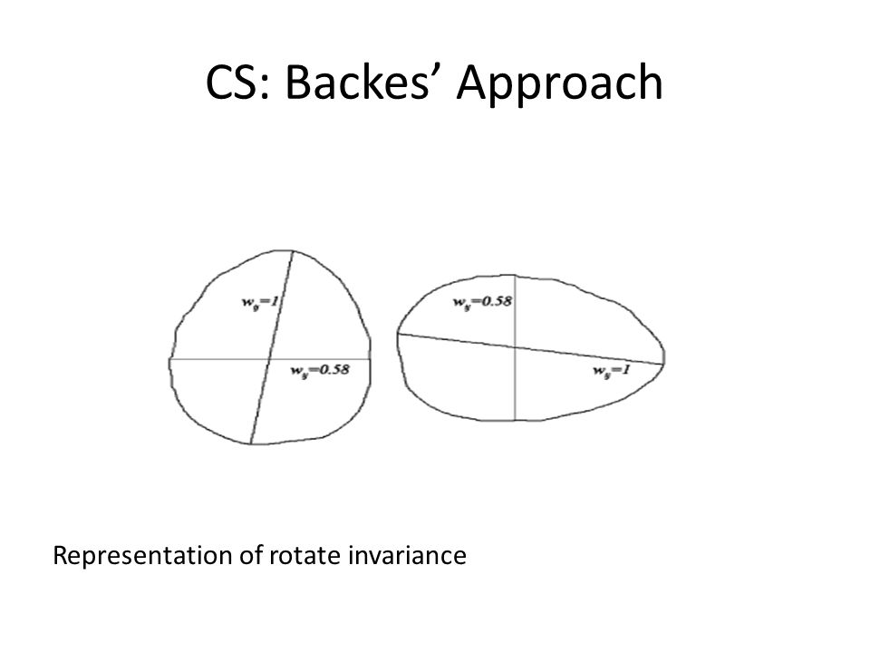 CS: Backes Approach Representation of rotate invariance