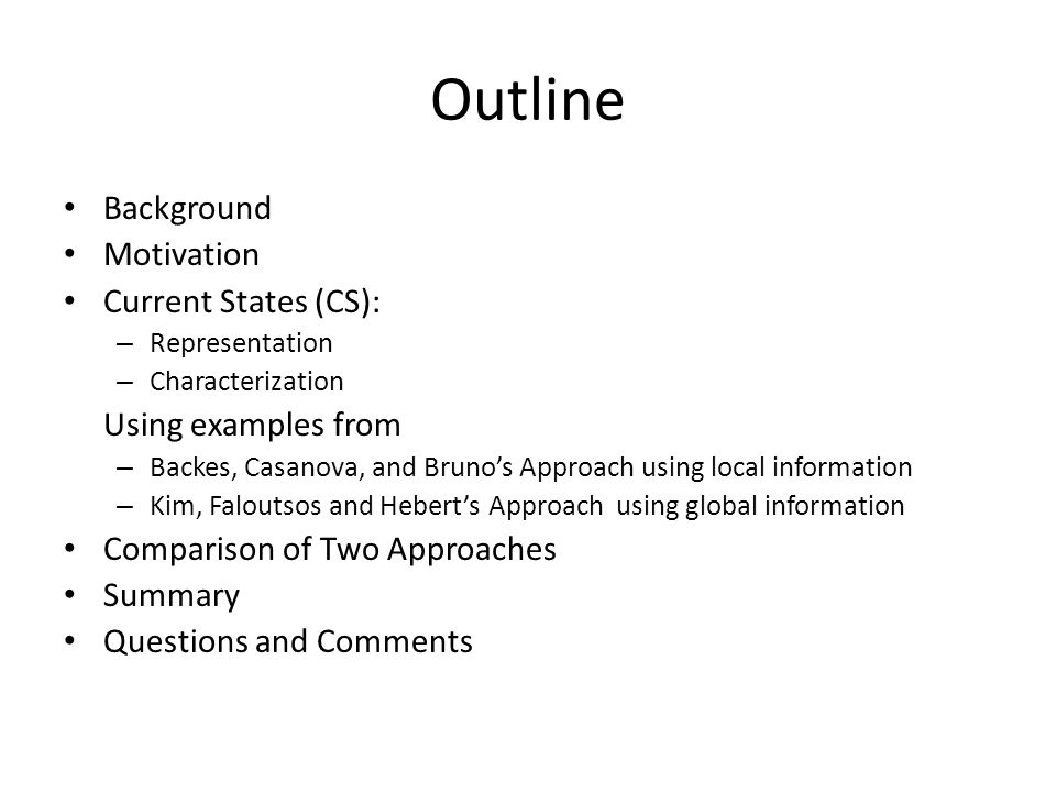 Background: Complex Network Source: cs790: complex network lecture