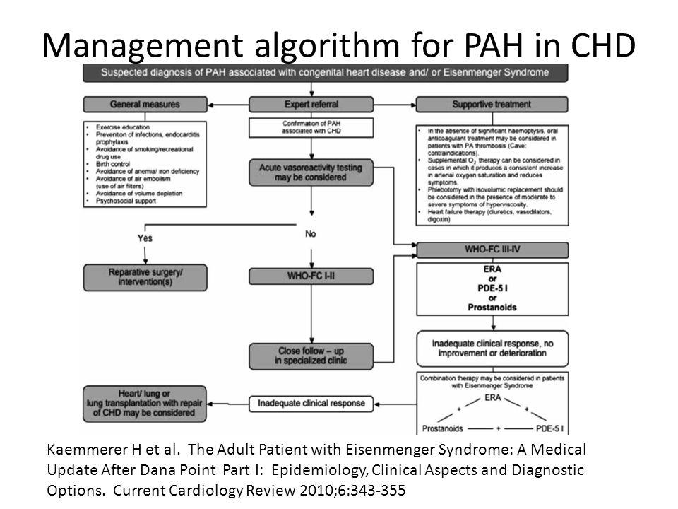 Management algorithm for PAH in CHD Kaemmerer H et al.