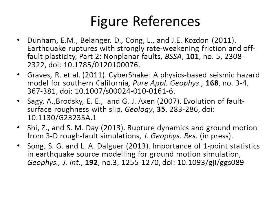Figure References Dunham, E.M., Belanger, D., Cong, L., and J.E.