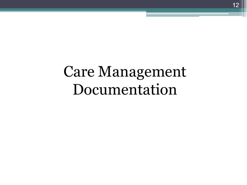 Care Management Documentation 12