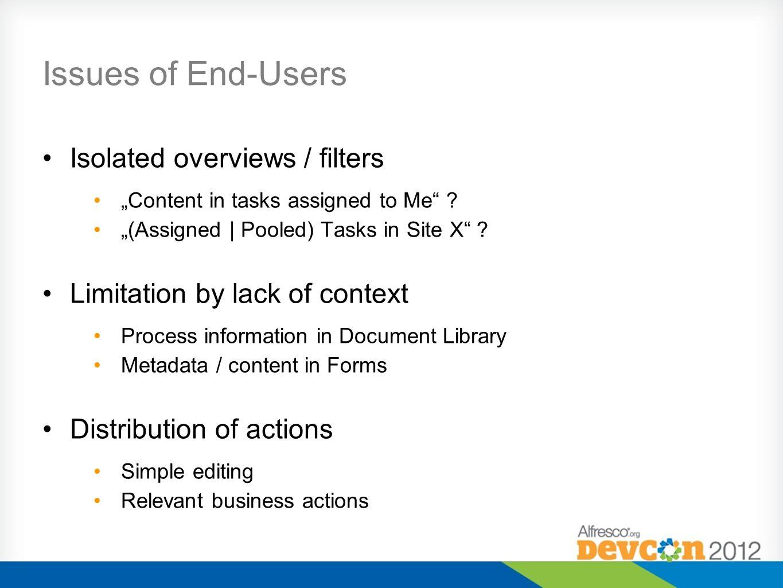 Context in Document Library Simple customizations Virtual Metadata Indicators Custom filters Methods DocLib Customization Repo WebScript Override 4.0 / 4.1 Surf Extensibility 4.2