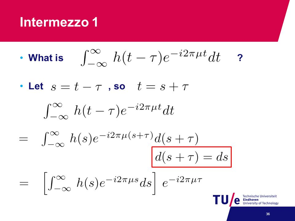 Intermezzo 1 What is ? Let, so 36