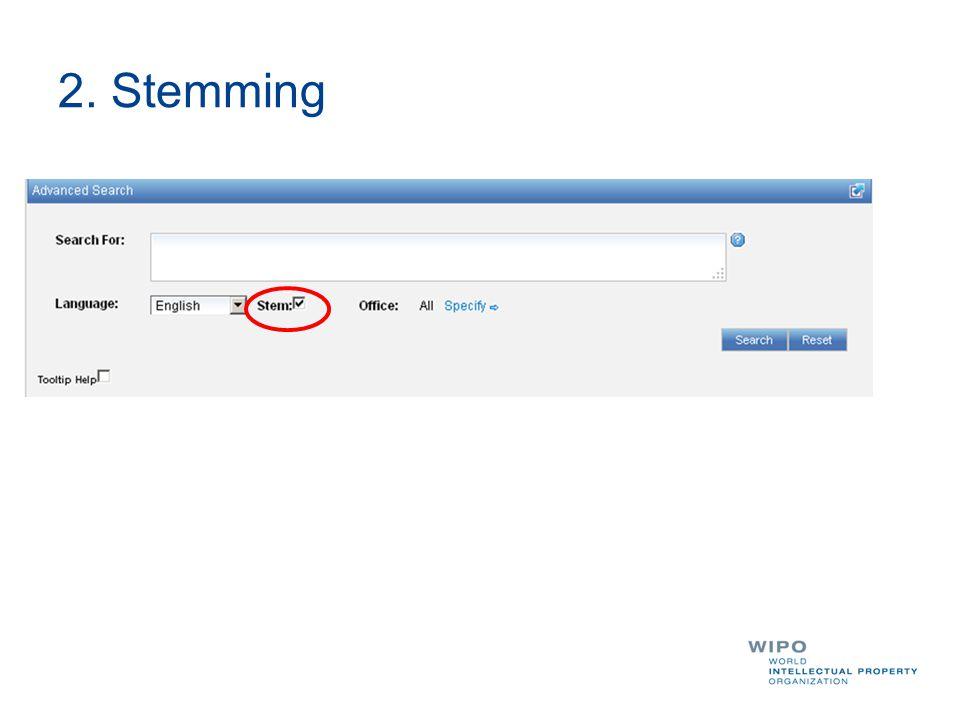 2. Stemming