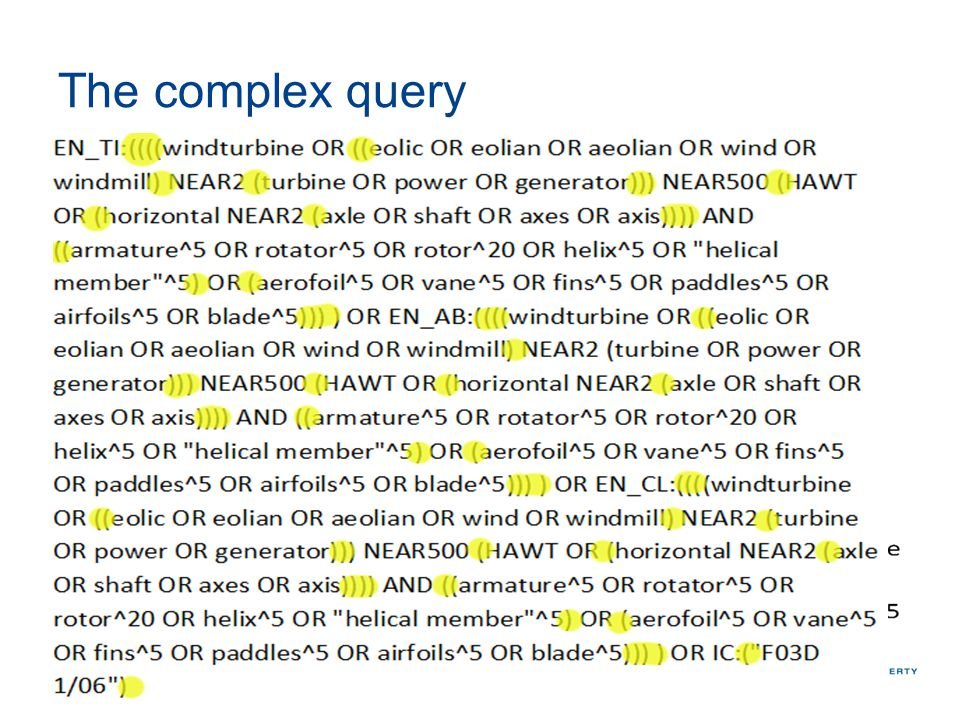 The complex query