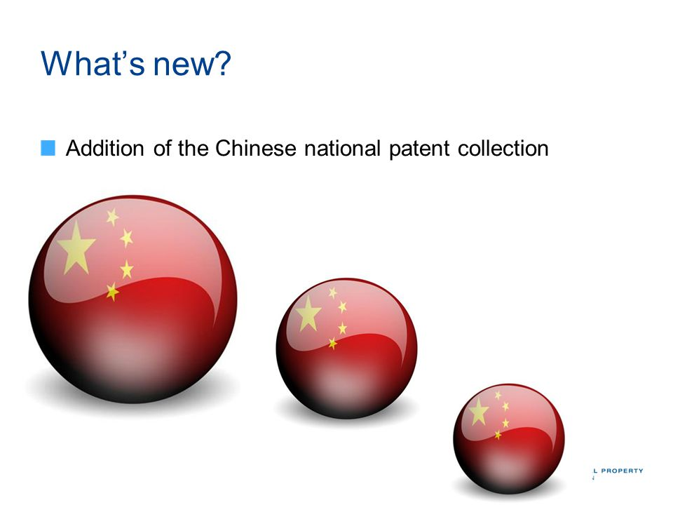 Whats new? Addition of the Chinese national patent collection