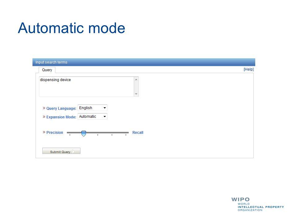 Automatic mode