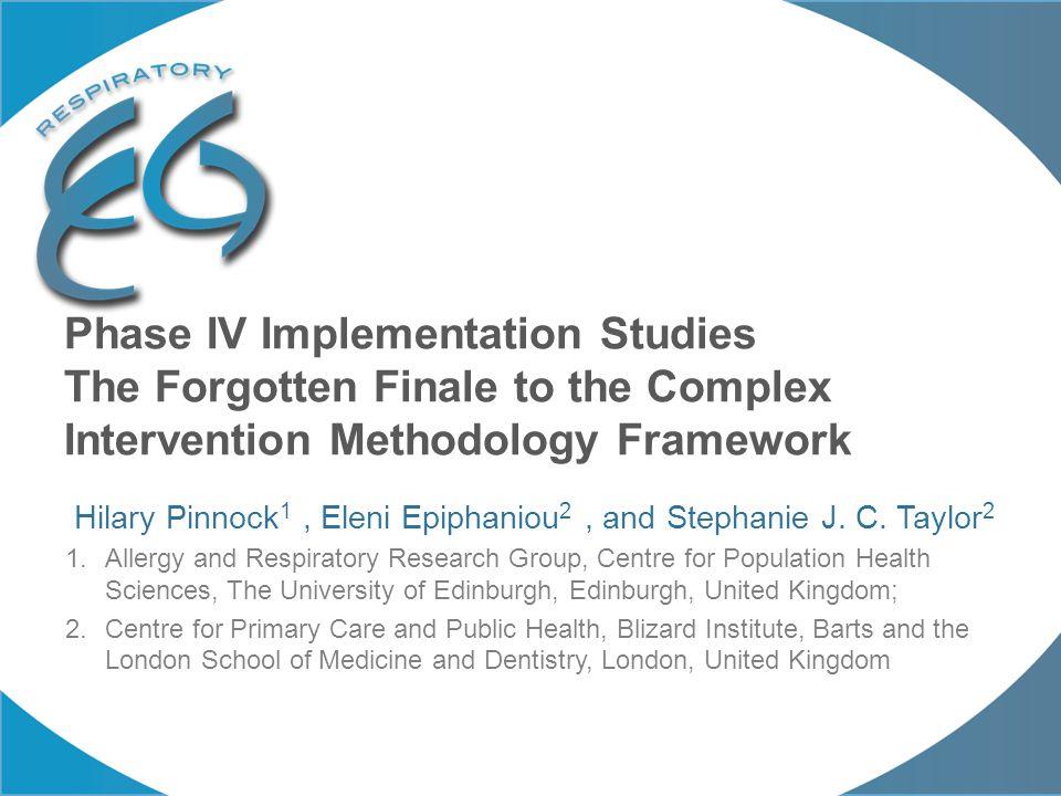 The complex intervention methodology.