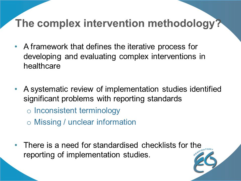 The complex intervention methodology.