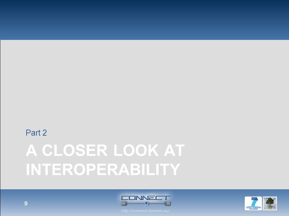Focus on Interoperability Scalability Security Privacy Interoperability Self- Managemen t the extent by which two implementations of systems from different manufacturers can co- exist and work together by merely relying on each others services as specified by a common standard.