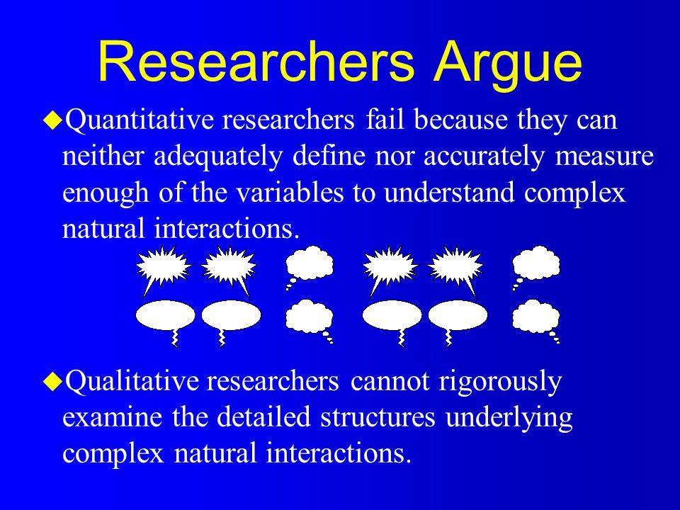 Qualitative Research: A Different Way of Looking at the World u Naturalistic u Holistic u Contextual u Rich u In-depth u Reality derived not measured