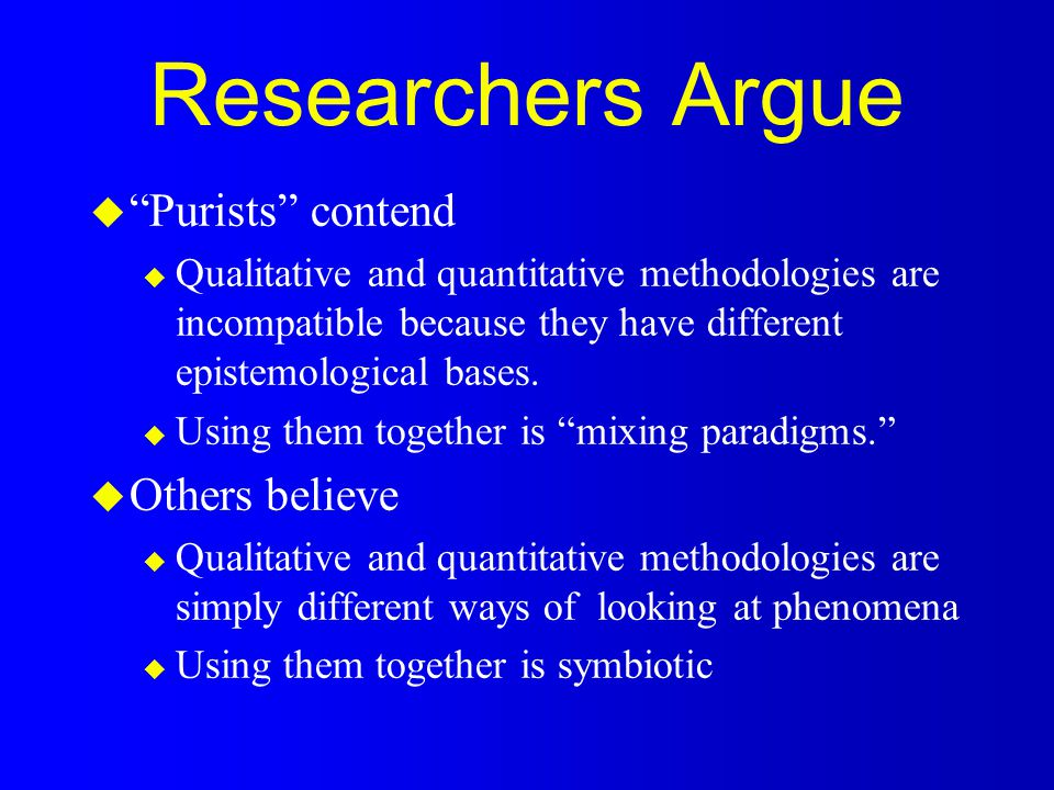 External Validity u In qualitative research, equates to transferability u Transferability is responsibility of reader, not researcher u Provide dense description u Use nominated informant sample u Provide detailed demographic and situational description