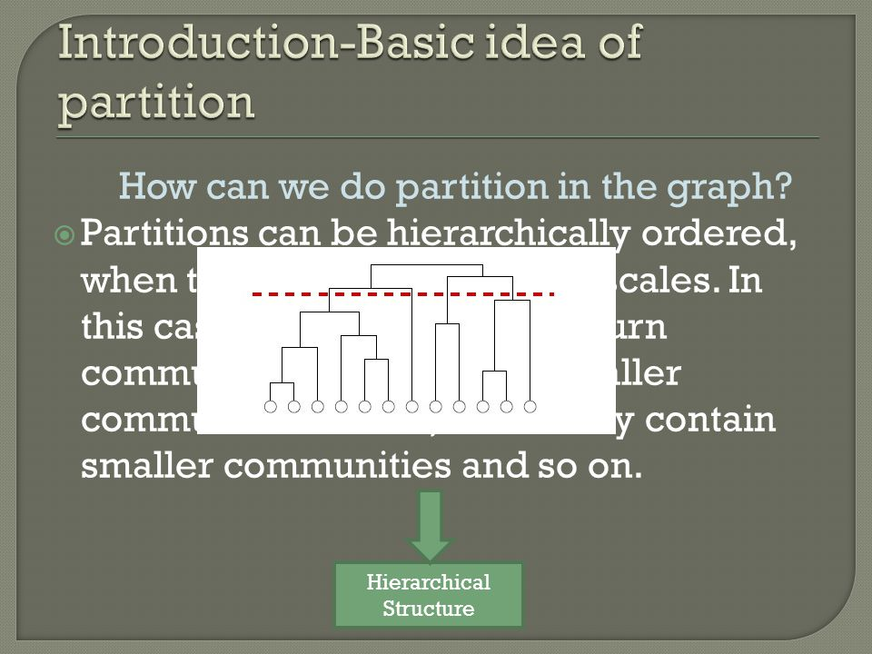 How can we do partition in the graph.