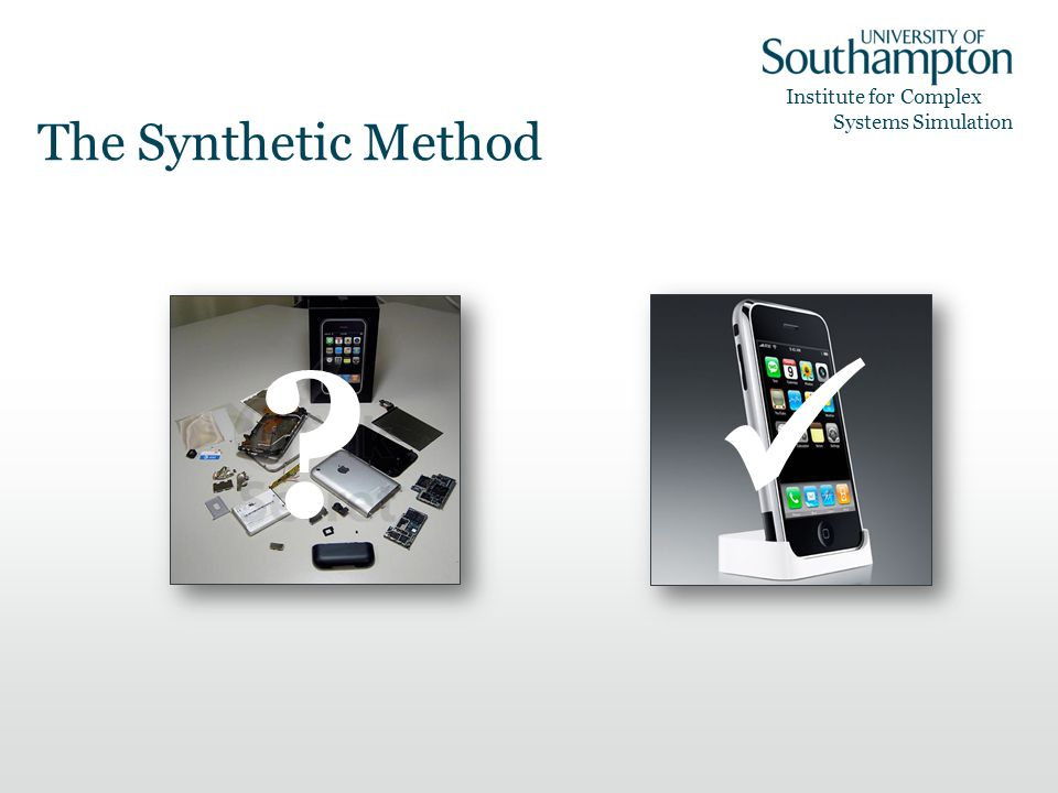 Institute for Complex Systems Simulation The Synthetic Method