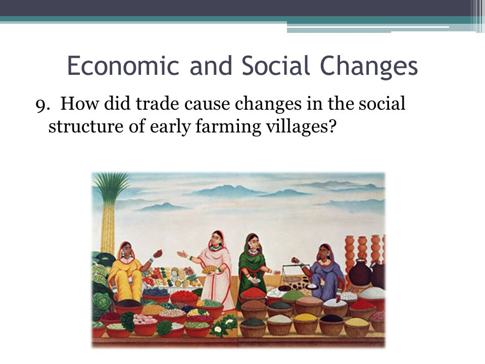 Economic and Social Changes 9.