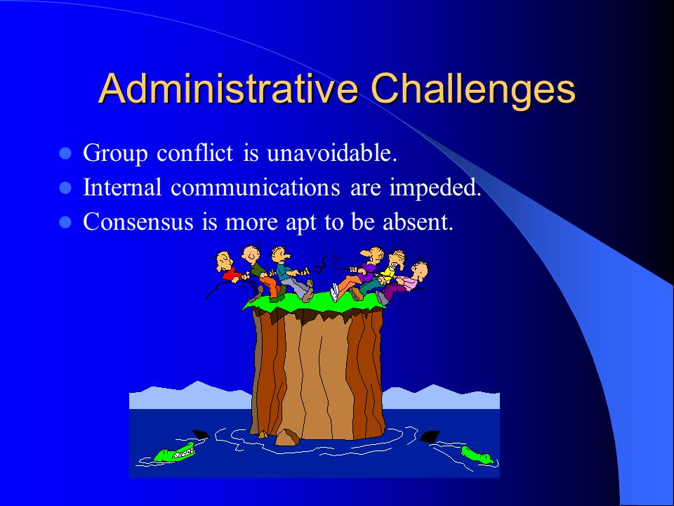 Administrative Challenges Group conflict is unavoidable.