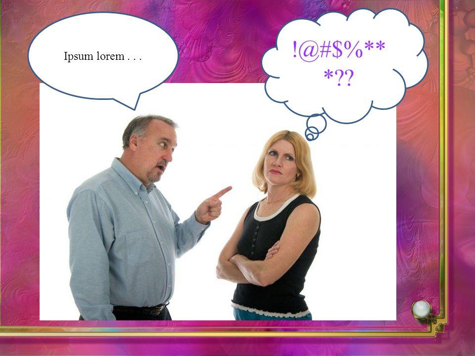 Ipsum lorem... !@#$%** *