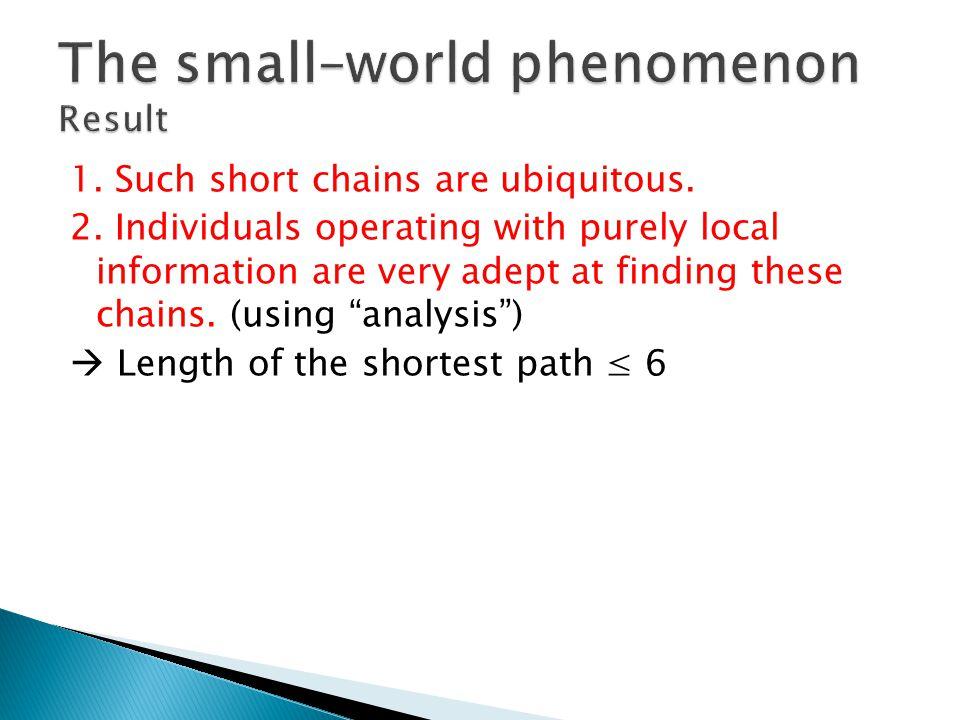 1. Such short chains are ubiquitous. 2.