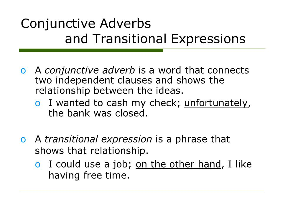 Examples of Compound Sentences oA comma and a coordinating conjunction: I like to study grammar, and I love this class.