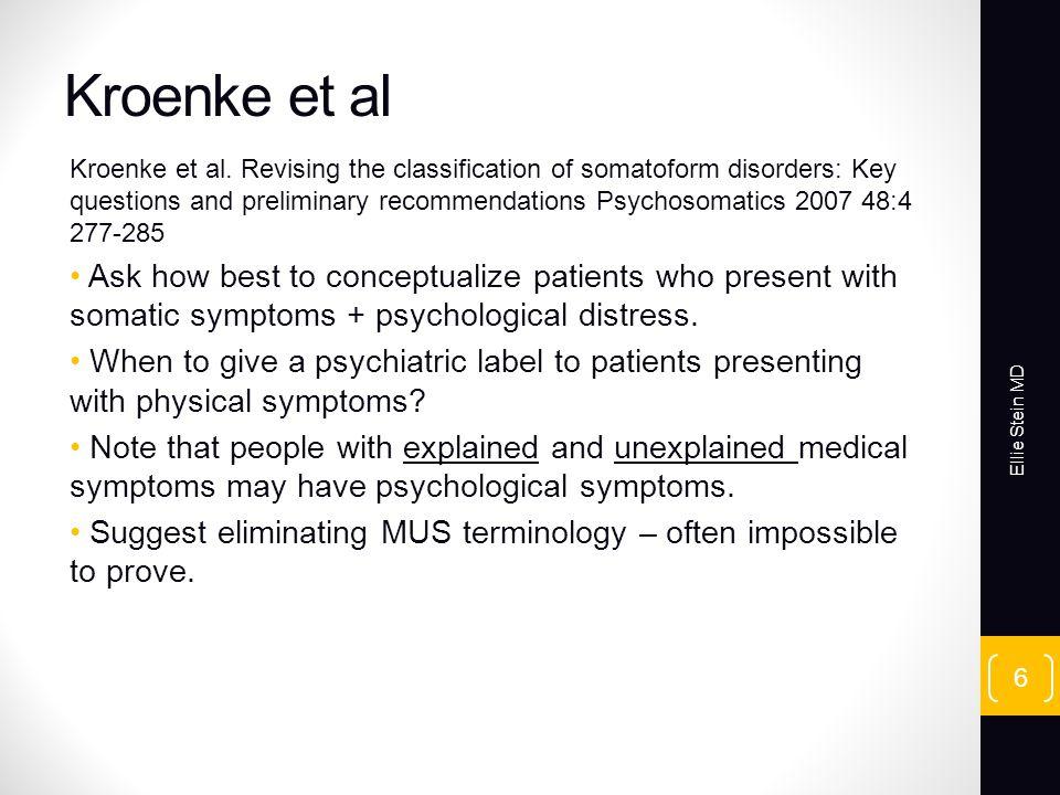 Kroenke et al Kroenke et al.