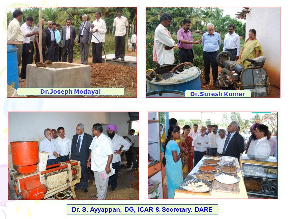 Dr.Suresh Kumar Dr. S. Ayyappan, DG, ICAR & Secretary, DARE Dr.Joseph Modayal