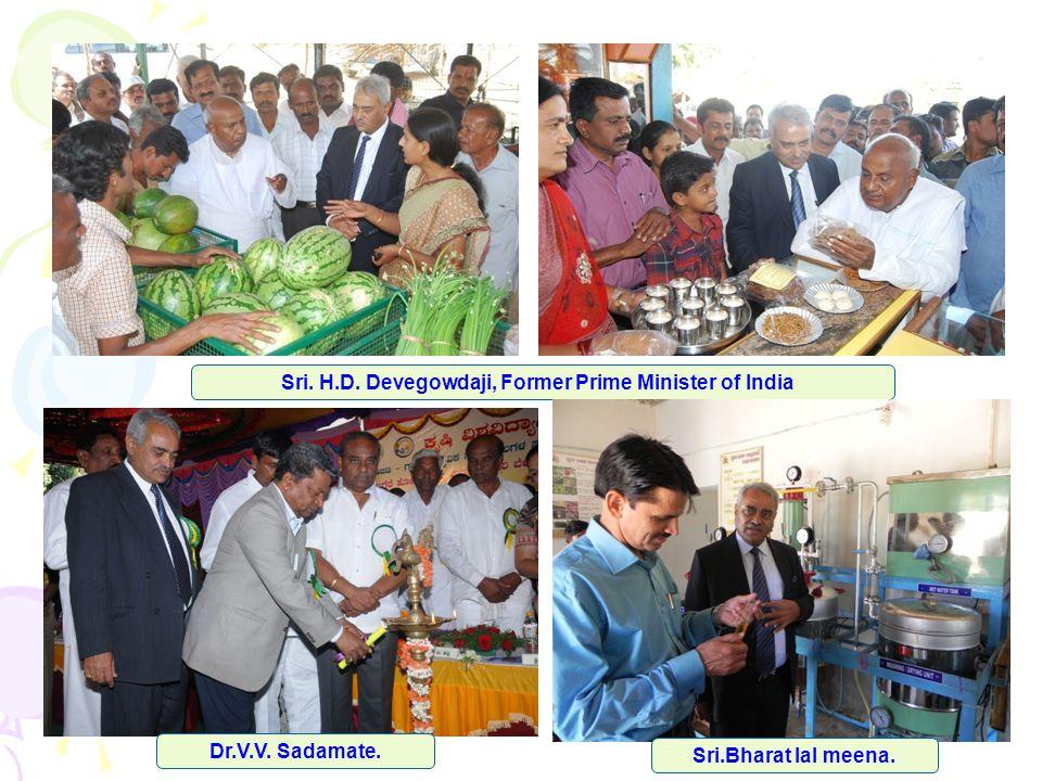 Sri. H.D. Devegowdaji, Former Prime Minister of India Sri.Bharat lal meena. Dr.V.V. Sadamate.