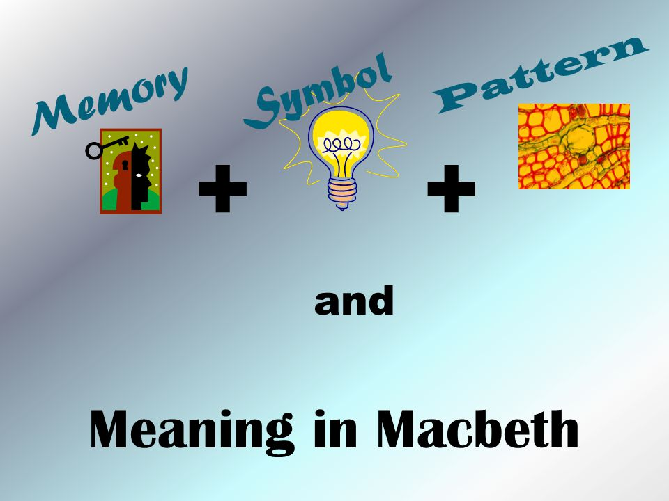 Memory and Meaning in Macbeth Symbol Pattern ++