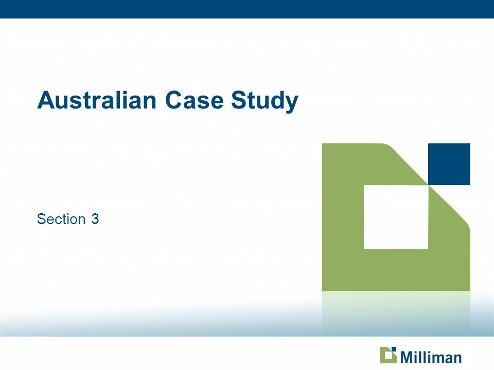 Australian Case Study Section 3