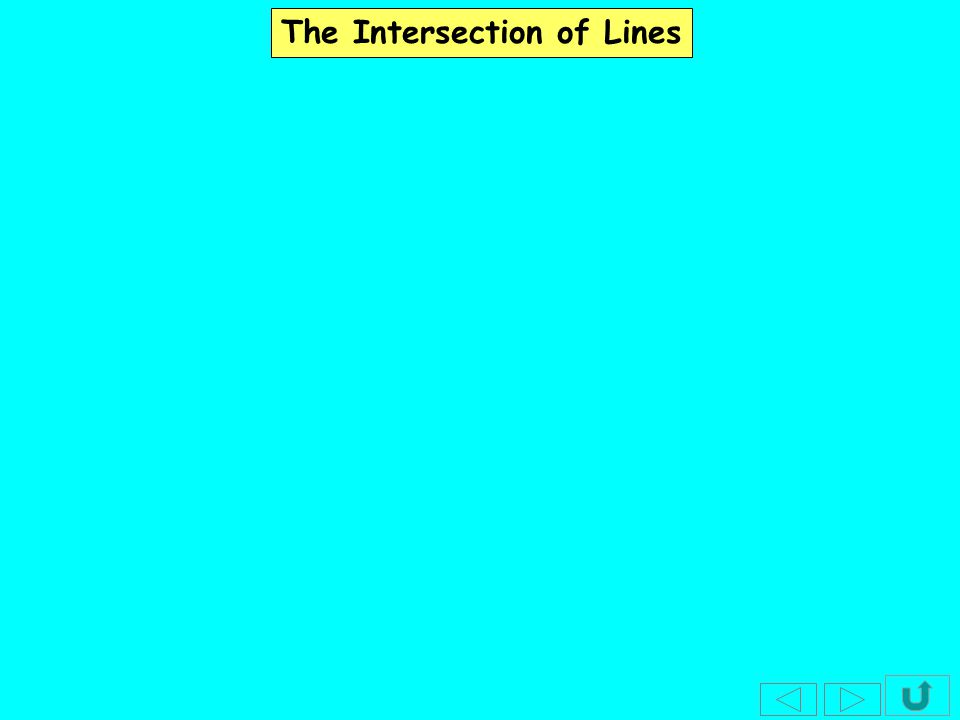 The Intersection of Lines