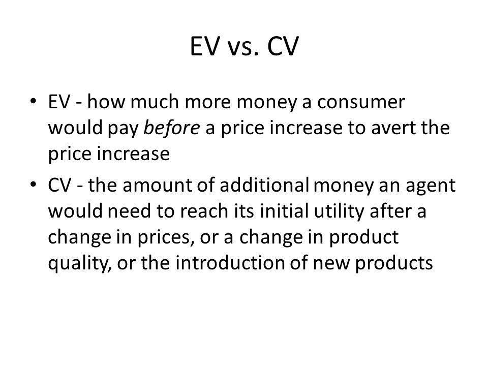 EV vs.