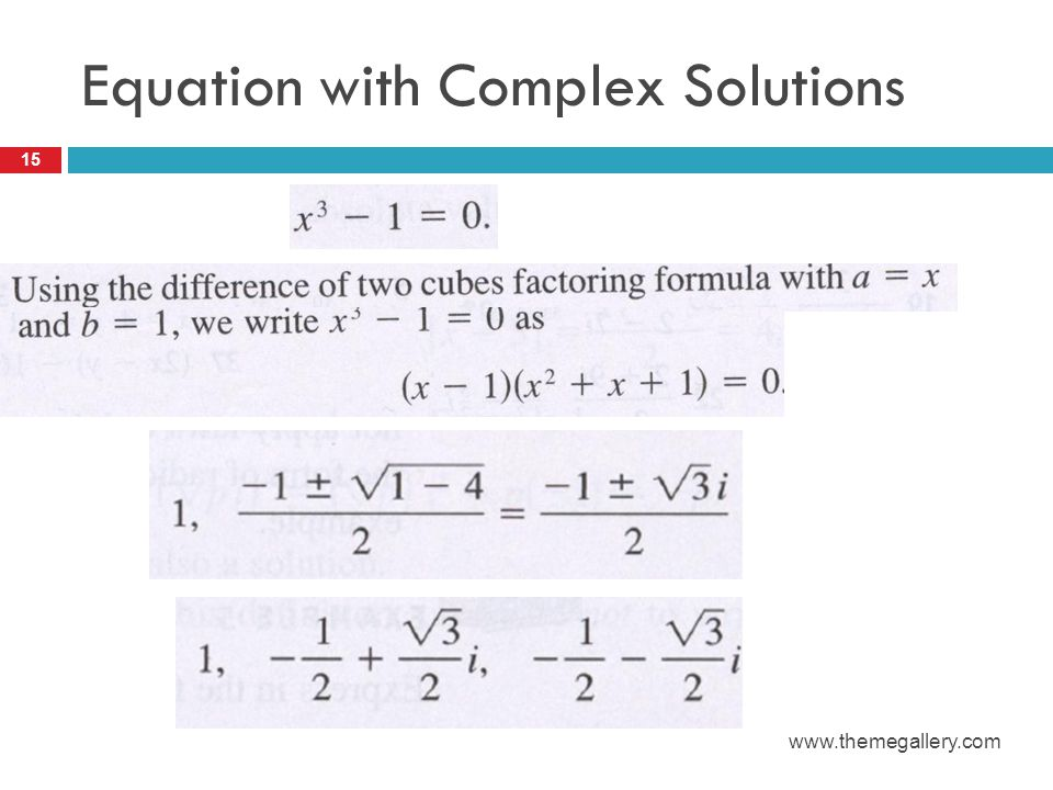 Equation with Complex Solutions 15 www.themegallery.com
