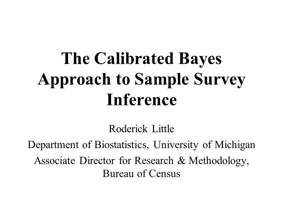 2.1 Posterior Distribution of Q 32Models for complex surveys: simple random sampling
