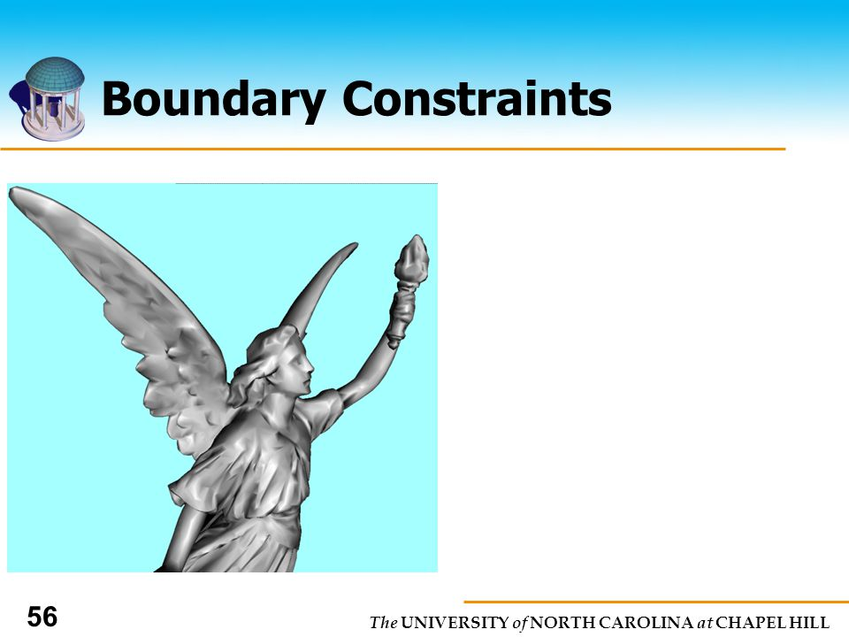 The UNIVERSITY of NORTH CAROLINA at CHAPEL HILL 56 Boundary Constraints