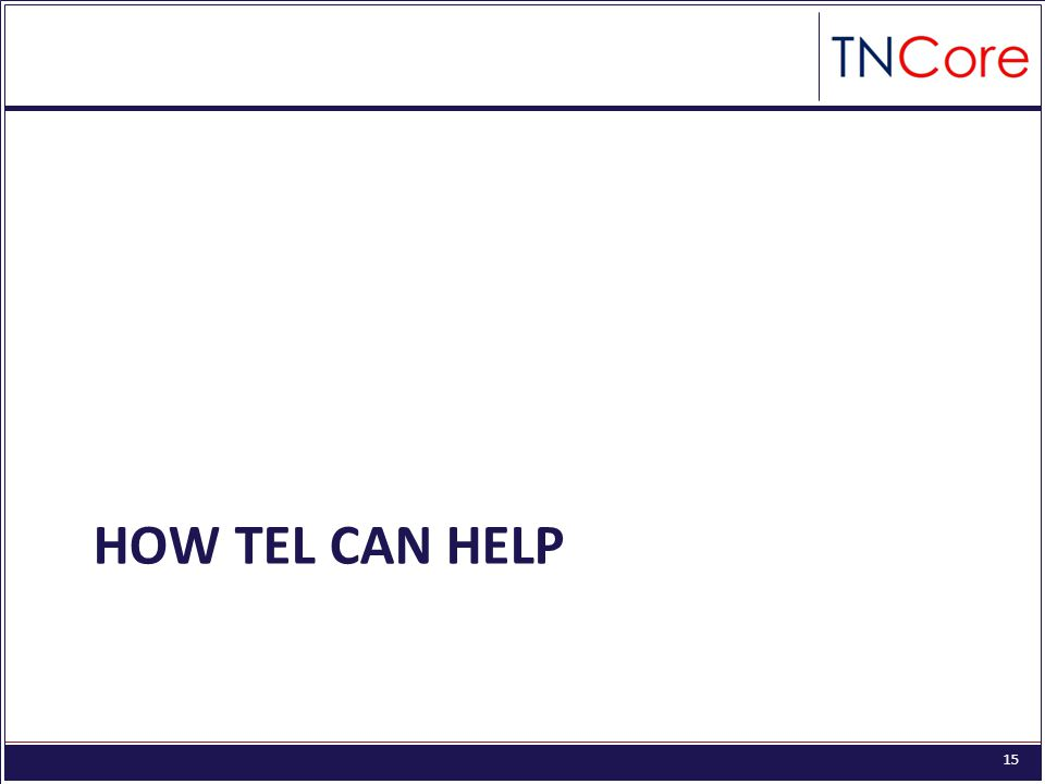 15 HOW TEL CAN HELP